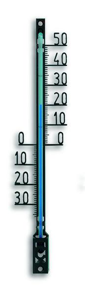 Снимка на Термометър външен PVC черен 160мм