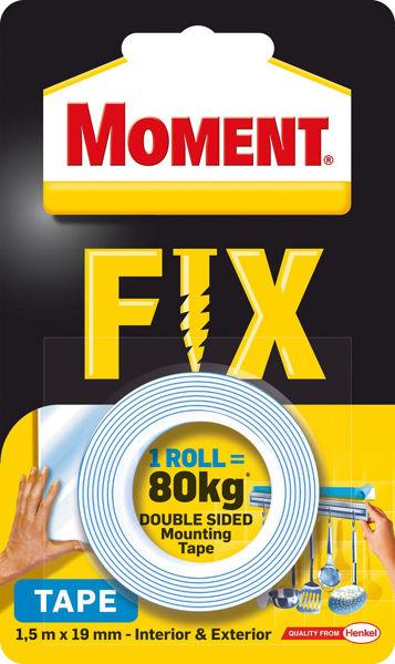 Снимка на Лента двойнолепяща Moment Fix монтажна 80кг./1.5м.х19мм
