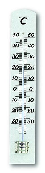 Снимка на Термометър за вътрешна и външна температура, масив бук 31х16х180 мм