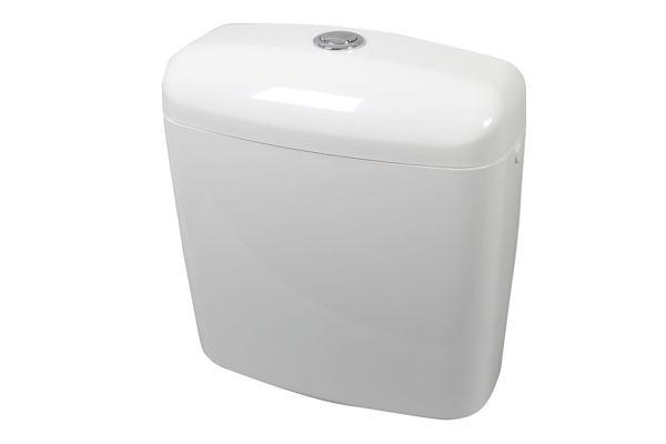 Снимка на Тоалетно казанче двустепенно Вега - бяло