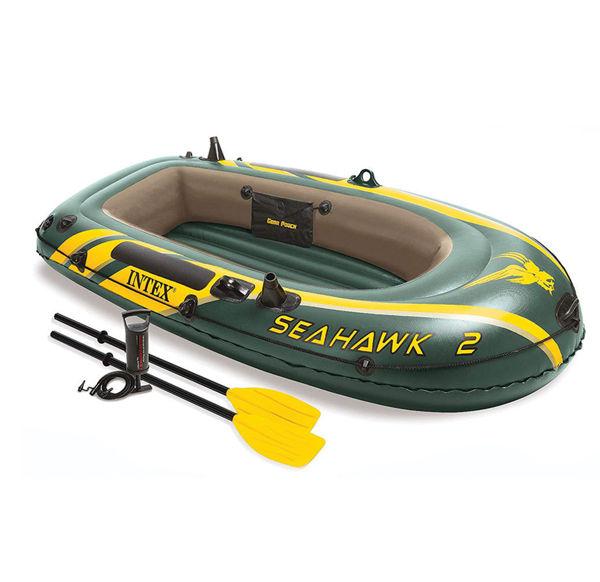 Снимка на Лодка надуваема двуместна 236х114х41 с гребла и помпа