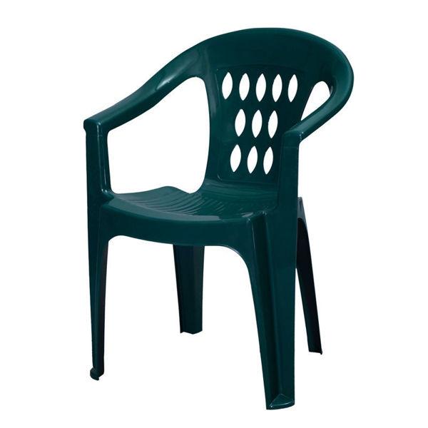Снимка на Стол пластмасов SMERALDO промоционално зелено