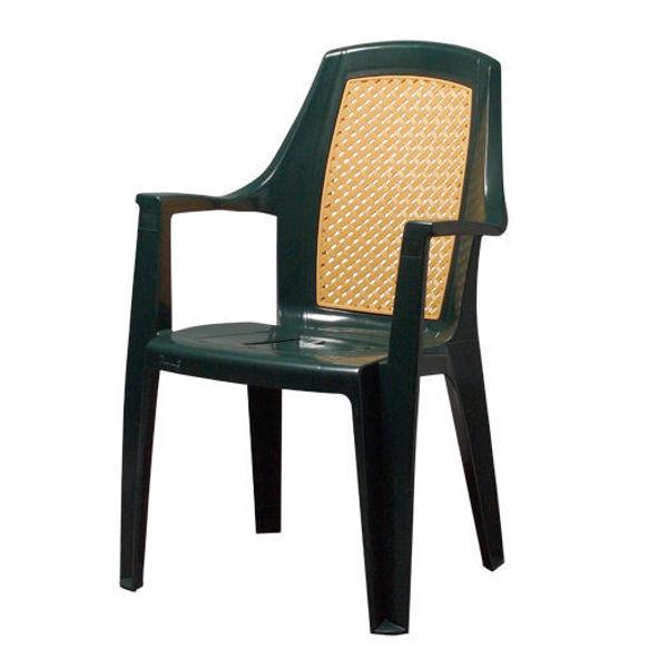 Снимка на Стол пластмасов TESORO зелен