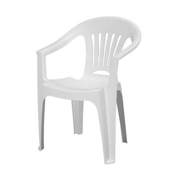 Снимка на Стол пластмасов ZAFFIRO бял