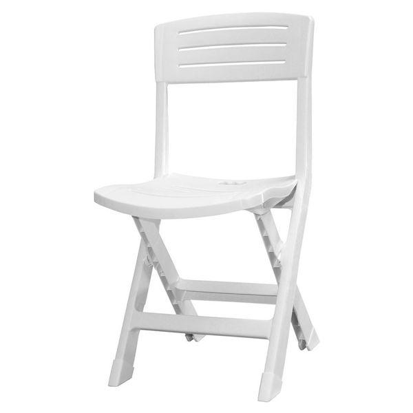Снимка на Стол пластмасов сгъваем ONORE бял