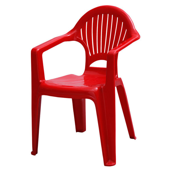 Снимка на Стол пластмасов детски GIOCO червен