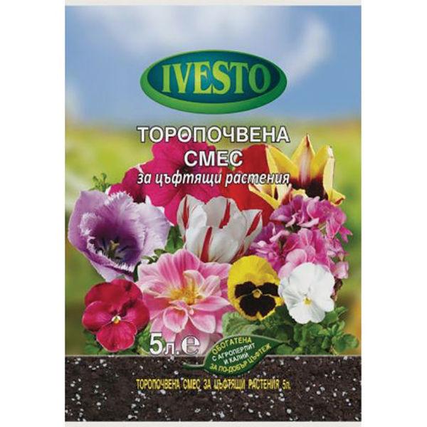Снимка на Торфена смес цъфтящи растения 10л