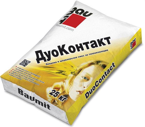 Снимка на Лепило шпакловка Баумит ДуоКонтакт за топлоизолация - 25 кг.