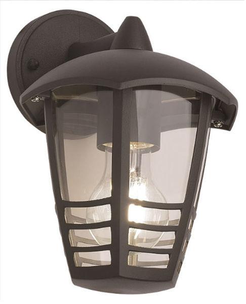 Снимка на Фенер градински Belight 1хE27 max60W 220V IP44 черен - горен носач