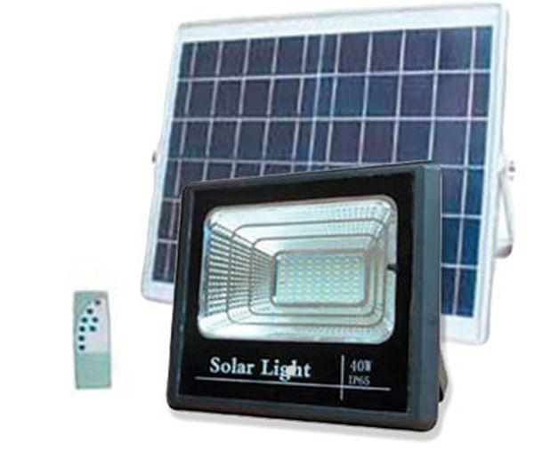 Снимка на Прожектор LED соларен външ. 25W 500Lm 6000K 3.2V/5.5Ah+солар.панел5460