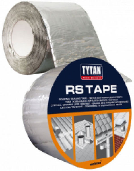 Снимка на Лента Tytan покривна битумна с алуминиево покритие 75мм х 10м.