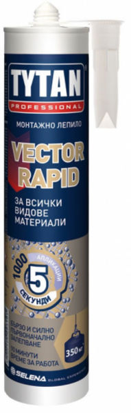 Снимка на Лепило Tytan Vector Rapid High Tack  монтажно MS полимер бял - 290мл.