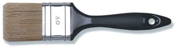 Снимка на Четка с пластмасова дръжка 30мм. микс бял косъм 70% tops