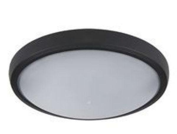 Снимка на Осветително тяло за баня LED ф20 12W IP65 черно
