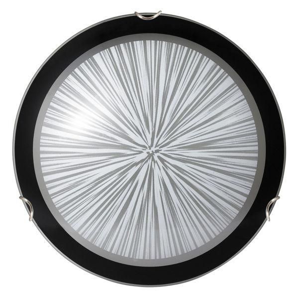 Снимка на Плафон Сфера 30см Е27 max 60W бяло/черно/хром държач 1857