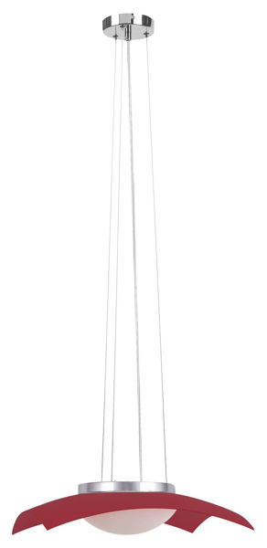 Снимка на Пендел LED 12W опушено сиво/хром