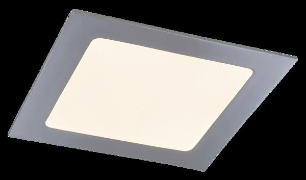 Снимка на LED панел 155 мм.хром 12W 800lm 3000K IP44 квадрат 5591