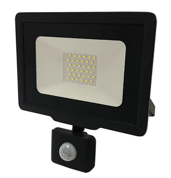Снимка на LED SMD прожектор 30W IP65 6000K 220-265V - черен със сензор - 5947