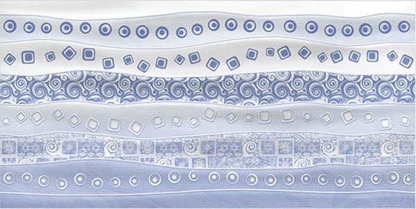 Снимка на Фаянс декорация IJ 30х60 Селин вълни Синя - 28801
