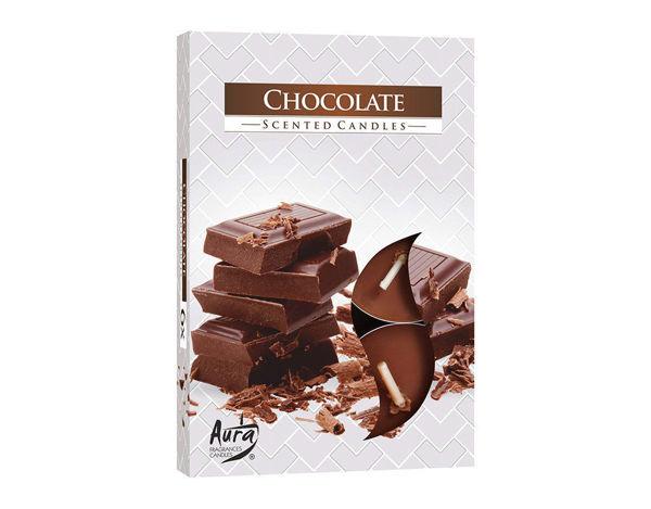 Снимка на Свещи чаени 6 бр. шоколад 39 х 16.2 P15-55