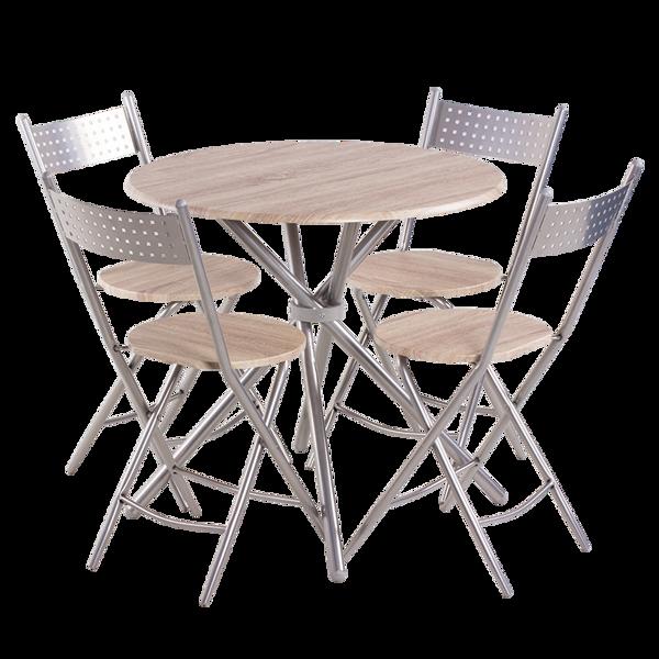 Снимка на Комплект маса с 4 стола 20016 Дъб Сонома 2