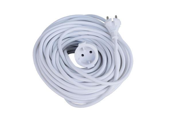 Снимка на Удължител 30 метра  2х1.00мм - бял