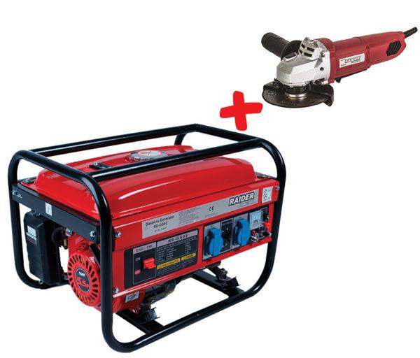 Снимка на Генератор за ток бензинов 2 kW RD-GG02