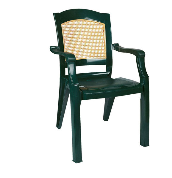 Снимка на Стол пластмасов MODERN зелен