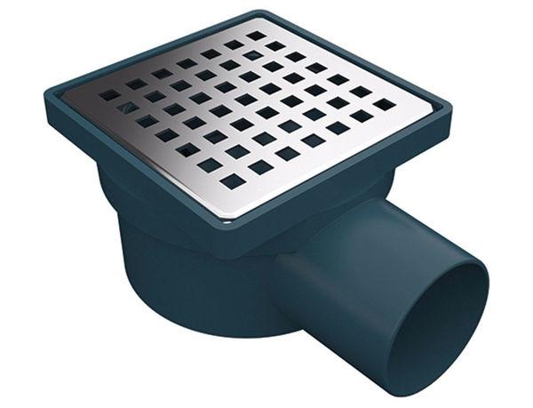 Снимка на Сифон подов страничен ф50 решетка 100х100 суха клапа 3000-50