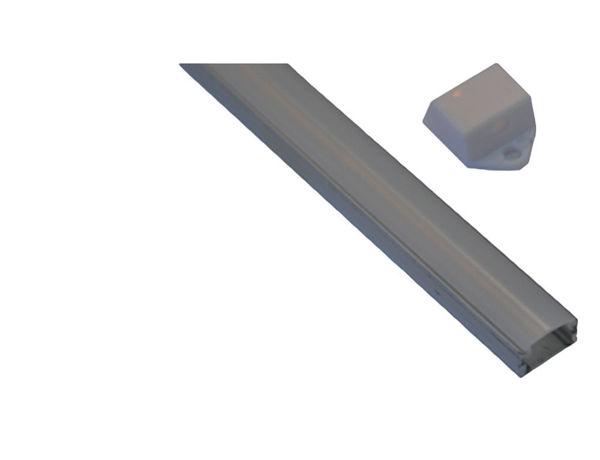 Снимка на Профил П-образен с прав капак - мат - 1м.