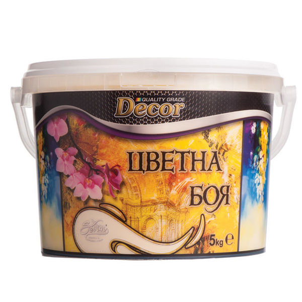 Снимка на Латекс дишаща интериорна боя цветна Decor капучино - 5 кг.