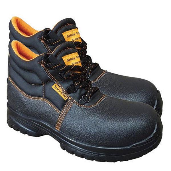 Снимка на Обувки работни боти телешка кожа с метално бомбе 3180 S1 - №42