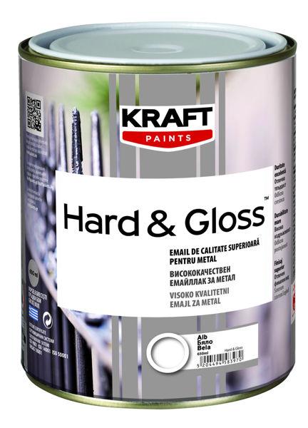 Снимка на Емайллак за дърво и метал Hard&Gloss сребро 0.65мл