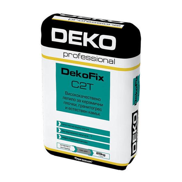 Снимка на Лепило тънкослойно за плочки ДЕКОФИКС С2 сиво - 25 кг.
