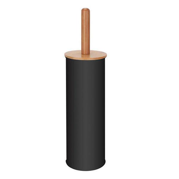 Снимка на Четка WC с бамбукова дръжка 10.3х38.4см. - черна