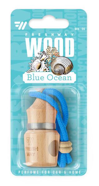 Снимка на Ароматизатор с течен парфюм Wood Blister - Blue Ocean