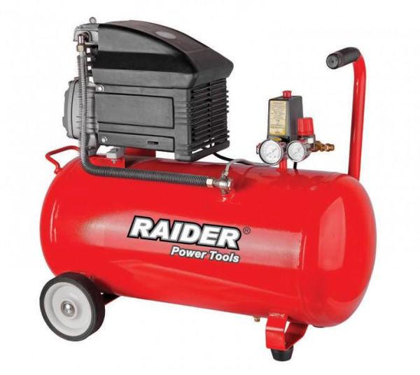Снимка на Компресор RAIDER 50л 1.5 kW RD-AC02