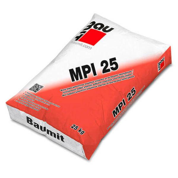Снимка на Мазилка Баумит MPI 25 варо-циментова машинна 0.6мм - 25кг.