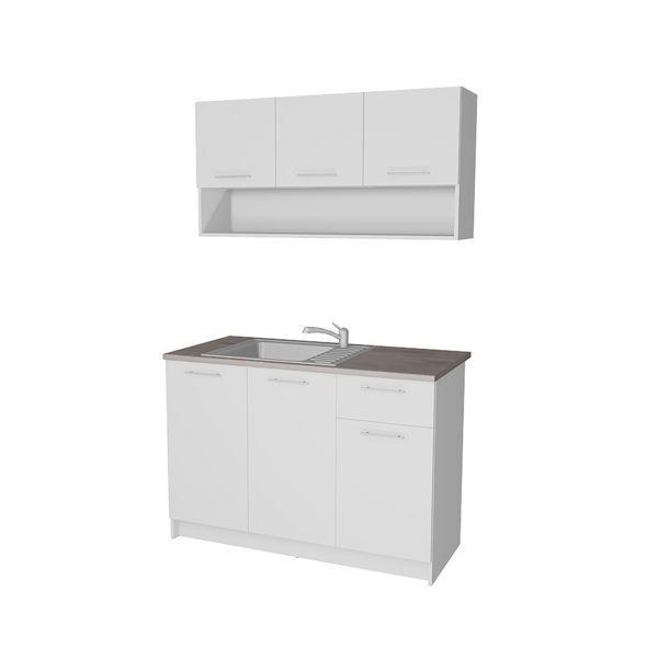 Снимка на Кухня Леда 120 см - цвят бяло - ПДЧ 16мм.
