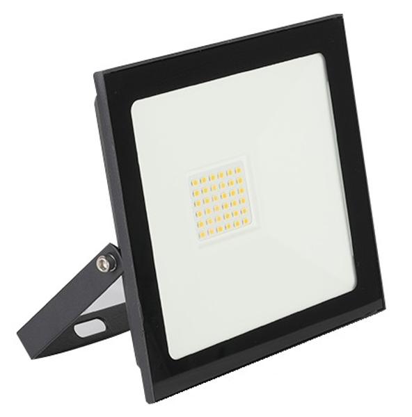 Снимка на Прожектор LED черен 20W 1800Lm 4000K IP65 - 14см