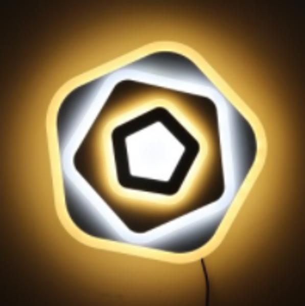 Снимка на Плафониера LED бяла 95W 6175Lm 2800+6500K IP20 - 49см