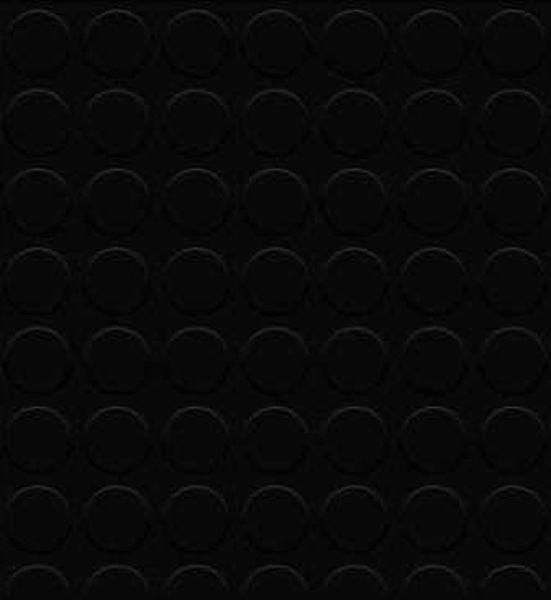 Снимка на Настилка PVC Smart India Черна  - 2м. (кръгове)