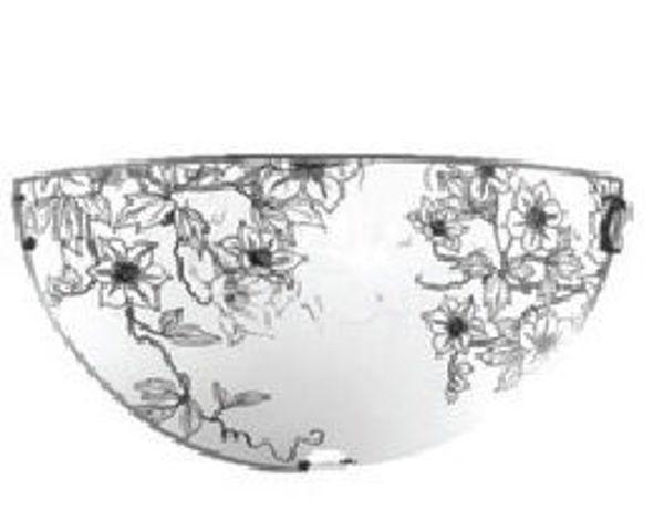Снимка на Аплик Flora бяло + черно 1хЕ27, 1/2 Ø300mm
