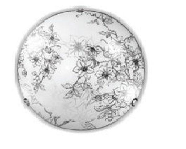Снимка на Плафон 91300 Flora Ø30cm 1xE27 бяло+черно
