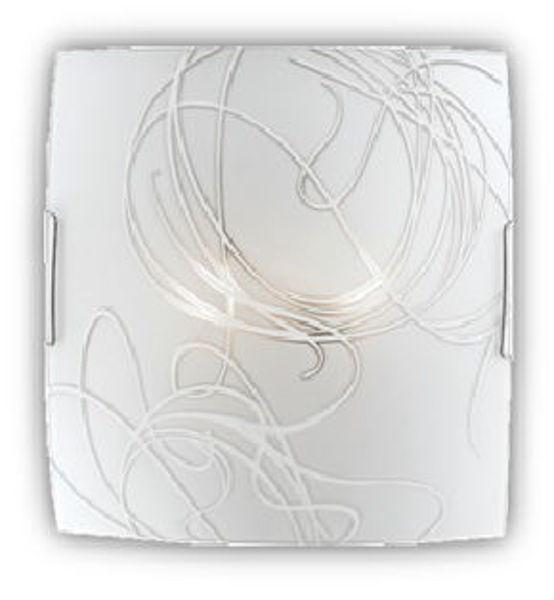 Снимка на Плафониера Elora бяло + прозрачно 2хЕ27, 400х400m