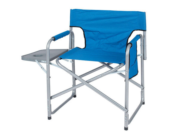 Снимка на Сгъваем стол 62х79х46cm със страничен плот 24х36cm - Син