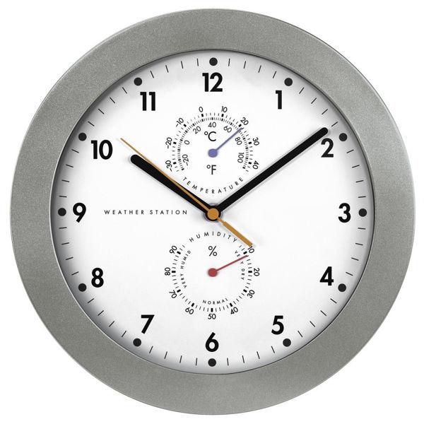 """Снимка на DCF радио часовник стенен """"PP-300"""" с термометър/ влагомер"""