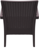 Снимка на Комплект ратан PVC Маями - диван маса и 2 фотьойла-Кафяв