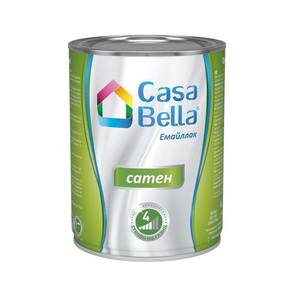 Снимка на Боя алкидна Casa Bella сатен Черна 2.5 л.