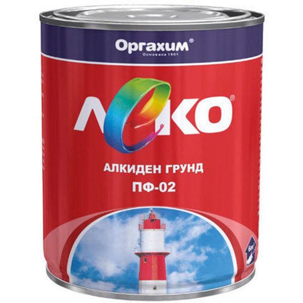 Снимка на ЛЕКО грунд алкиден ПФ 02 сив 900гр.